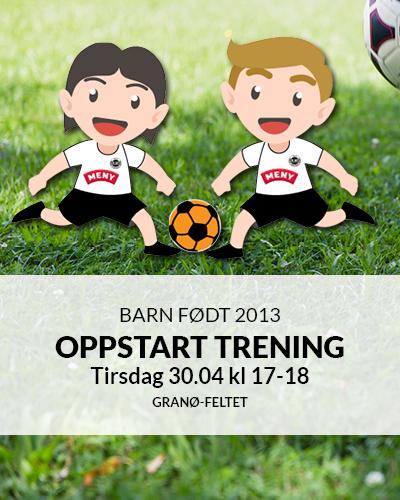 Oppstart trening for barn født 2013