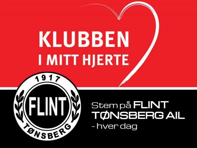 Stem på Flint i Klubben i Mitt hjerte!