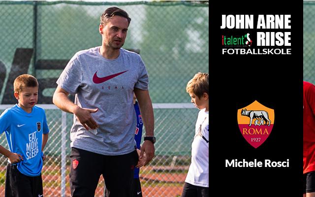Roma-trener Michele Rosci til John Arne Riise fotballskole