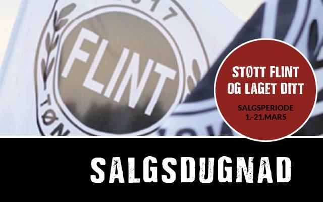 Salgsdugnad – støtt Flint og tjen penger til lagkassen!