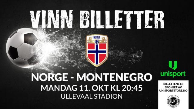 KONKURRANSE   Vinn billetter til Norge-Montenegro